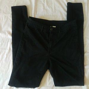 Divided by H & M  black denim skinny pants excelle